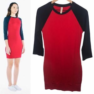 American Apparel Ponte Raglan Shirt Dress